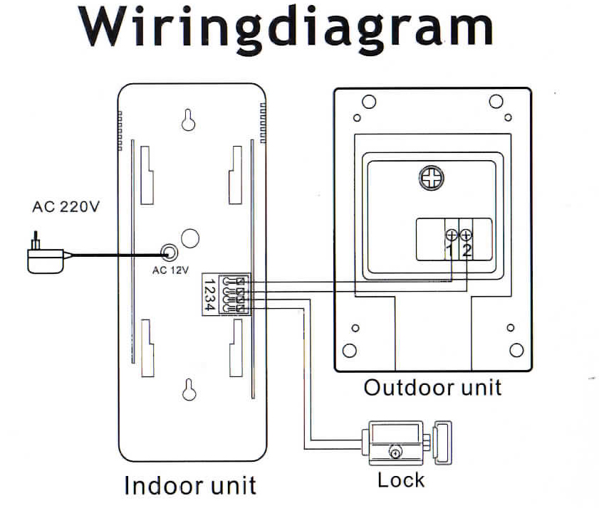 kit1fapt 2 wire door phone entry system non expandable rh sparksdirect co uk Video Phone Wireless panasonic video door phone wiring diagram