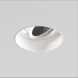 Trimless Round Adjustable Downlight in Matt White Dimmable 1 x 6W max. LED GU10 IP20, Astro 1248024