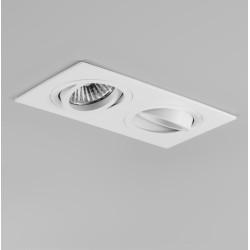 Taro Twin Adjustable Downlight in Matt White IP20 using 2 x GU10 max. 50W Lamps, Astro 1240017