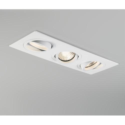 Taro Triple Downlight (adjustable) in Matt White using 3 x GU10 Lamps Dimmable IP20, Astro 1240019