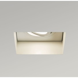 Trimless Square Fire Rated Adjustable Downlight in Matt White using GU10 max. 6W LED, Astro 1248007