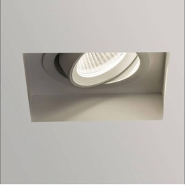 Trimless Square Adjustable LED Downlight in Textured White 6.8W 2700K LED IP20, Astro 1248009