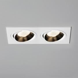 Aprilia Twin Adjustable LED Downlight in Matt White using 2 x 6.1W 3000K LED IP21 rated, Astro 1256019