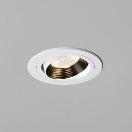 Aprilia Single Adjustable Round 3000K LED Downlight in Matt White using 1 x 6.1W LED IP21