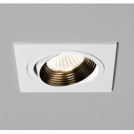 Aprilia Single Adjustable Square 3000K LED Downlight in Matt White using 1 x 6.1W LED IP21