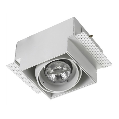 Multidir Trimless Adjustable Single Square White Downlight 12V GU5.3 50W LEDS-C4 DM-0093-14-00