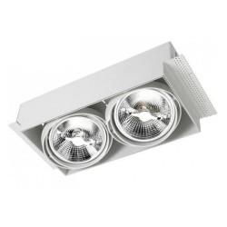 Multidir Trimless Adjustable Twin White Downlight 12V 2 x GU5.3 50W LEDS-C4 DM-0094-14-00