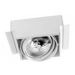 Multidir Trimless Adjustable Single Square White Downlight 12V GX53 AR-111 100W LEDS-C4 DM-0081-14-00