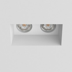 Blanco Twin Fixed Plastered-in Downlight in White Plaster using 2 x GU10 max. 6W LED Dimmable IP20, Astro 1253001