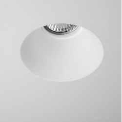 Blanco Round Plaster Ceiling Recessed Fixed Downlight using GU10 6W LED Paintable and Dimmable, Astro 1253004