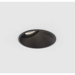 Minima Round 25 Fixed Downlight in Matt Black IP20 rated using 1 x 6W max. LED GU10, Astro 1249026
