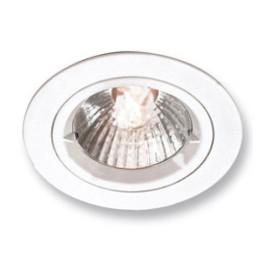 Fixed Lock Ring Aluminium Downlight in White Aurora AU-DLM356W 50W GU10 IP20