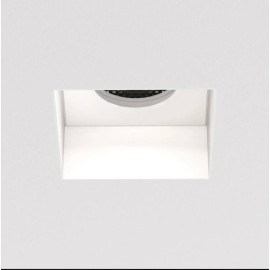 Trimless Square Fixed Downlight in Matt White IP20 rated using 1 x 6W max. LED GU10, Astro 1248018