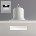 Trimless Square Fire Rated Fixed Downlight IP65 in Matt White GU10 6W LED Dimmable Astro 1248005