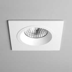 Taro Square Fire Rated Fixed Downlight in Matt White using 1 x GU10 50W IP20 Dimmable, Astro 1240026