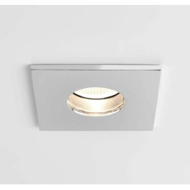 Obscura Square Fire Rated Fixed LED Downlight in Polished Chrome IP65 6.1W 2700K Dimmable LED Astro 1381005