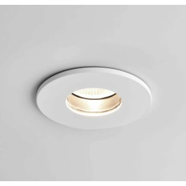 Obscura Round Fire Rated Fixed LED Downlight in Matt White IP65 6.1W 2700K Dimmable LED Astro 1381006