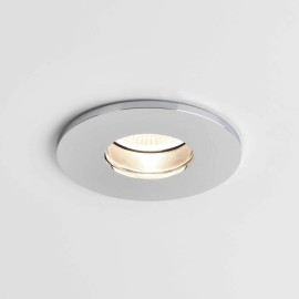 Obscura Round Fire Rated Fixed LED Downlight in Polished Chrome IP65 6.1W 2700K Dimmable LED Astro 1381007