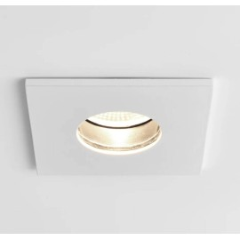 Obscura Square Fire Rated Fixed LED Downlight in Matt White IP65 6.1W 2700K Dimmable LED Astro 1381005