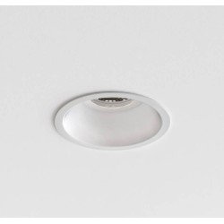 Minima Slimline Round Fixed Fire-Rated IP65 Downlight in Matt White using 1 x 6W max LED GU10, Astro 1249034