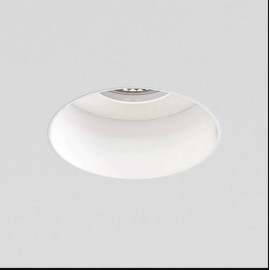 Trimless Slimline Round Fixed Fire Rated IP65 rated Downlight in Matt White 1x6W max. LED GU10, Astro 1248017