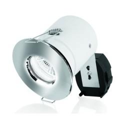 IP65 Fire Rated Fixed Downlight in Polished Chrome Aurora AU-DLM983PC GU10 Aluminium Shower Light