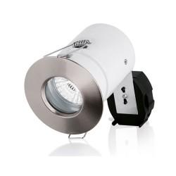 IP65 Fire Rated Fixed Downlight in Satin Nickel Aurora AU-DLM983SN GU10 Aluminium Shower Light