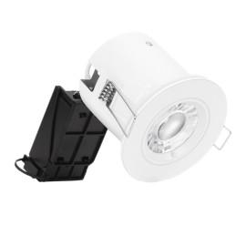 IP65 Fire Rated Fixed Shower Downlight with White Round Bezel, Enlite EN-981X + EN-BZ93