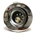 12V Tilting Fire Rated Round Downlight in Chrome, Low Voltage 50W Adjustable Fitting