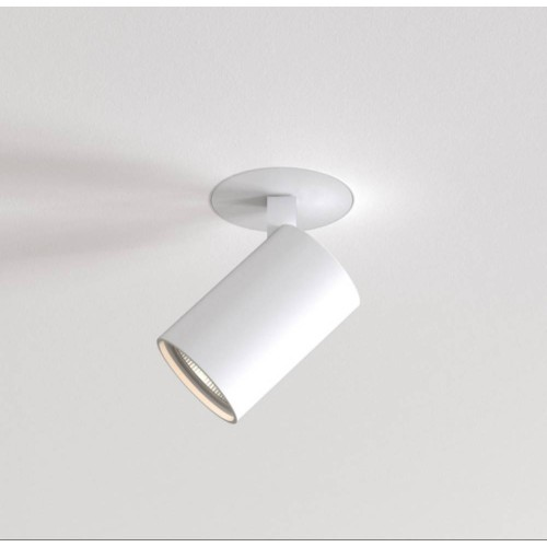 Ascoli Flush Fire-Rated Textured White Trimless Spotlight IP20 GU10 LED 6W Dimmable for Plasterboard Ceiling Mounting Astro 1286095