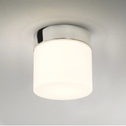 Sabina 170 Round Bathroom Ceiling Light IP44 Polished Chrome and Opal Diffuser 12W max. LED E27/ES, Astro 1292001