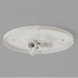 3 Way Round Ceiling Flush Plate Matt White with 3 x E27/ES Lampholders (Bevel Shade not included), Astro 1296001