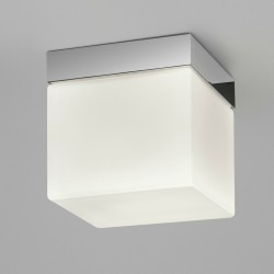 Sabina Square Flush Bathroom Ceiling Light IP44 in Polished Chrome and Diffuser Astro 1292002