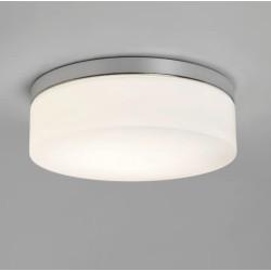Sabina 280 Polished Chrome Round Bathroom Ceiling Light IP44 with Glass Diffuser 12W LED E27/ES Astro 1292003