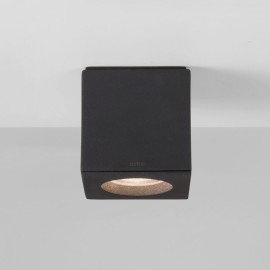 Kos Square Textured Black Wall/Ceiling Spotlight IP65 using 6W max. GU10 LED Lamp, Astro 1326007