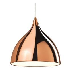 Firstlight 5746CP Cafe Pendant in Copper with White Inner using 1 x E27 Light Bulb