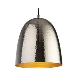 Assam Nickel Pendant Light with Matt Brass Interior E27 40W max. 1340mm drop Firstlight 8673