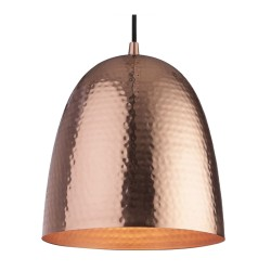 Assam Copper Pendant Light with Matt Copper Interior E27 40W max. 1340mm drop Firstlight 8674