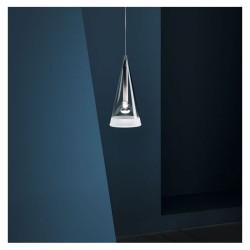 Flos Fucsia 1 Modern Glass Pendant designed by Achille Castiglioni, Conical Drop Ceiling Light