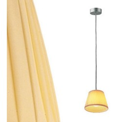 Flos Romeo Babe Soft S Pendant with Pleated Fabric Shade designed by Philippe Starck, Flos F6124007