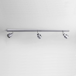 Exel Brushed Aluminium Ceiling Light with 3 Adjustable Spotlights GU10 LED max. 6W IP20 rated Dimmable, Astro 1007003