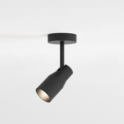 Apollo Single Textured Black Spotlight Adjustable for Wall/Ceiling Mounting IP20 1 x 6W max. LED GU10, Astro 1422002