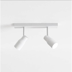 Apollo Twin Textured White Spotlight Adjustable for Wall/Ceiling Mounting IP20 2 x 6W max. LED GU10, Astro 1422004