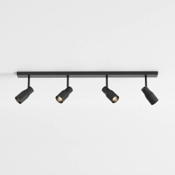 Apollo Four Spotlight Bar in Textured Black Adjustable for Wall/Ceiling Mounting IP20 4 x 6W max. LED GU10, Astro 1422011