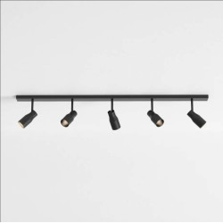 Apollo Five Spotlight Bar in Textured Black Adjustable for Wall/Ceiling Mounting IP20 5 x 6W max. LED GU10, Astro 1422014