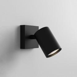 Ascoli Single Adjustable Spotlight Matt Black IP20 Dimmable for Wall/Ceiling Mounting GU10 max. 50W, Astro 1286078