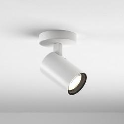 Aqua Matt White Single Surface Spotlight IP44 taking 1 x GU10 6W, Dimmable Ceiling/Wall Spot