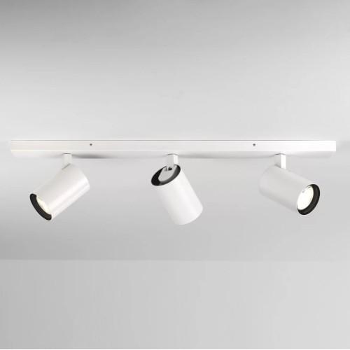 Aqua Matt White Triple Bar Spotlights IP44 GU10 6W Dimmable for Ceiling/Wall Mounting, Astro 1393003