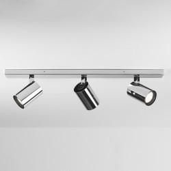 Aqua Polished Chrome Triple Bar Spotlights IP44 GU10 6W Dimmable for Ceiling/Wall Lighting, Astro 1393006