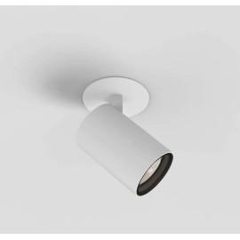 Aqua Matt White Single Ceiling Recessed Spotlight IP44 using 1 x 6W Max LED GU10 Dimmable, Astro Lighting 1393007
